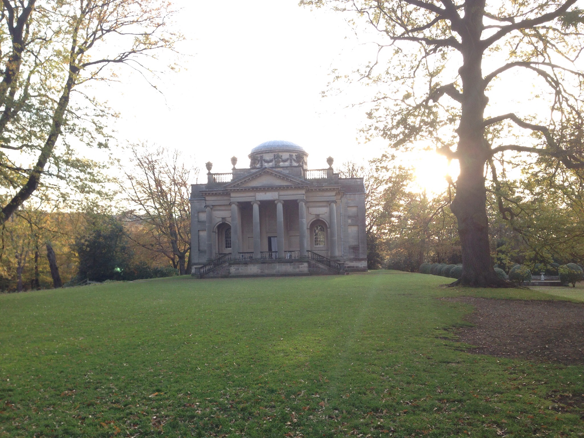 gibside chapel in the autumn