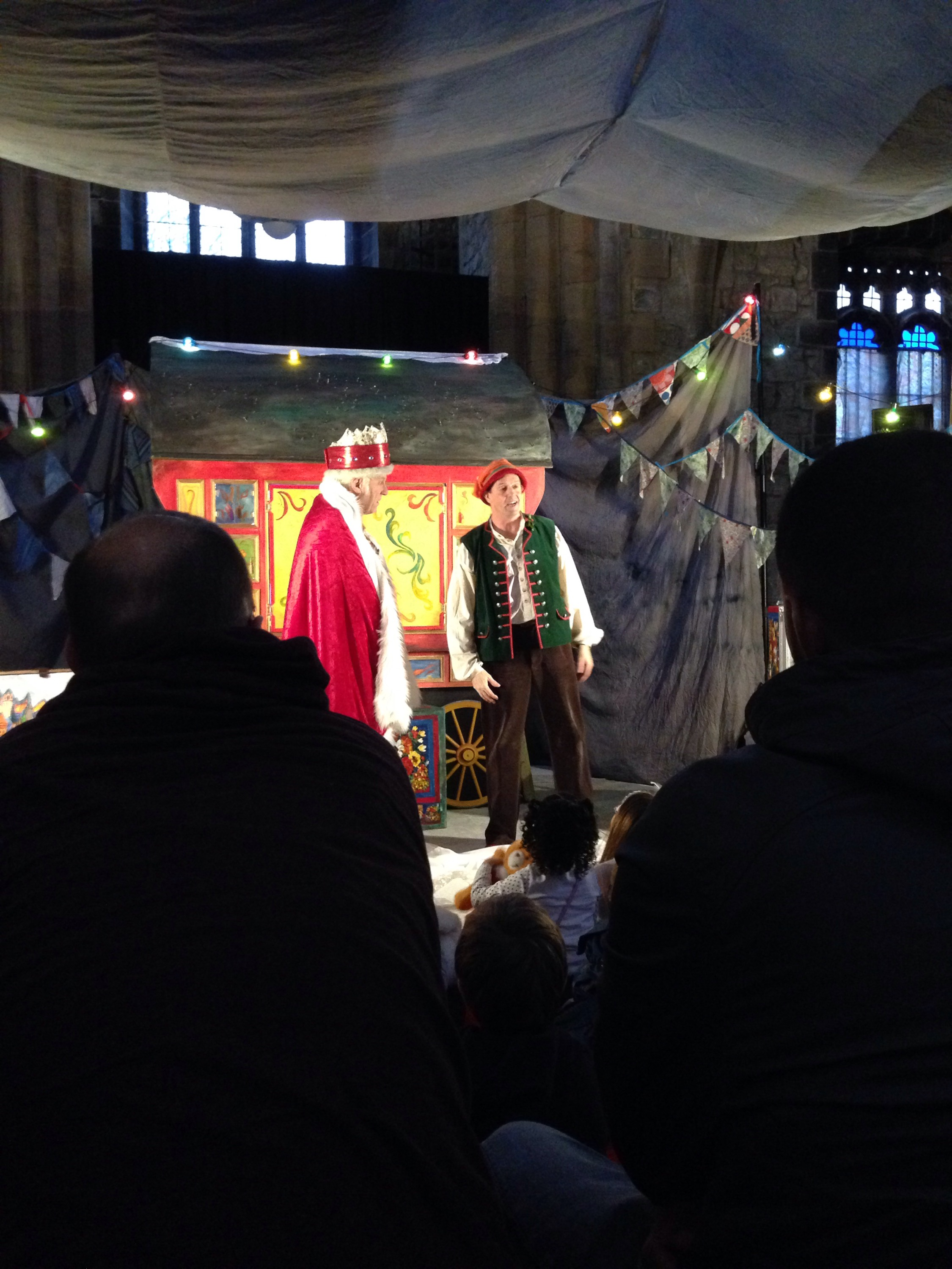 the king on the stage in a performance of the Snow Bear