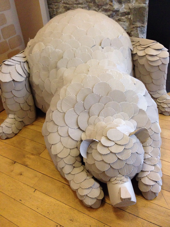 snow bear at st marys heritage centre gateshead