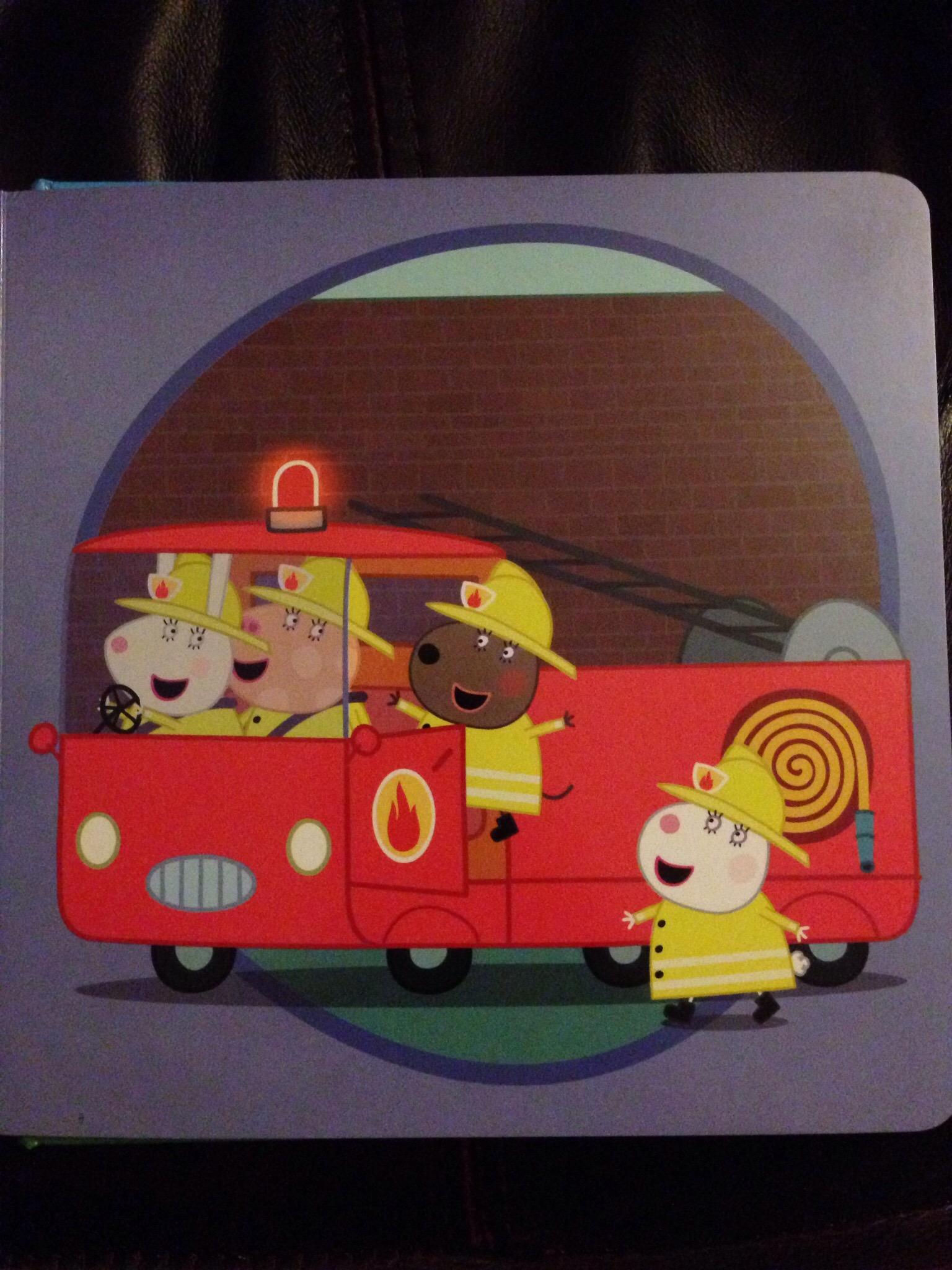 Peppa Pig fire engine book