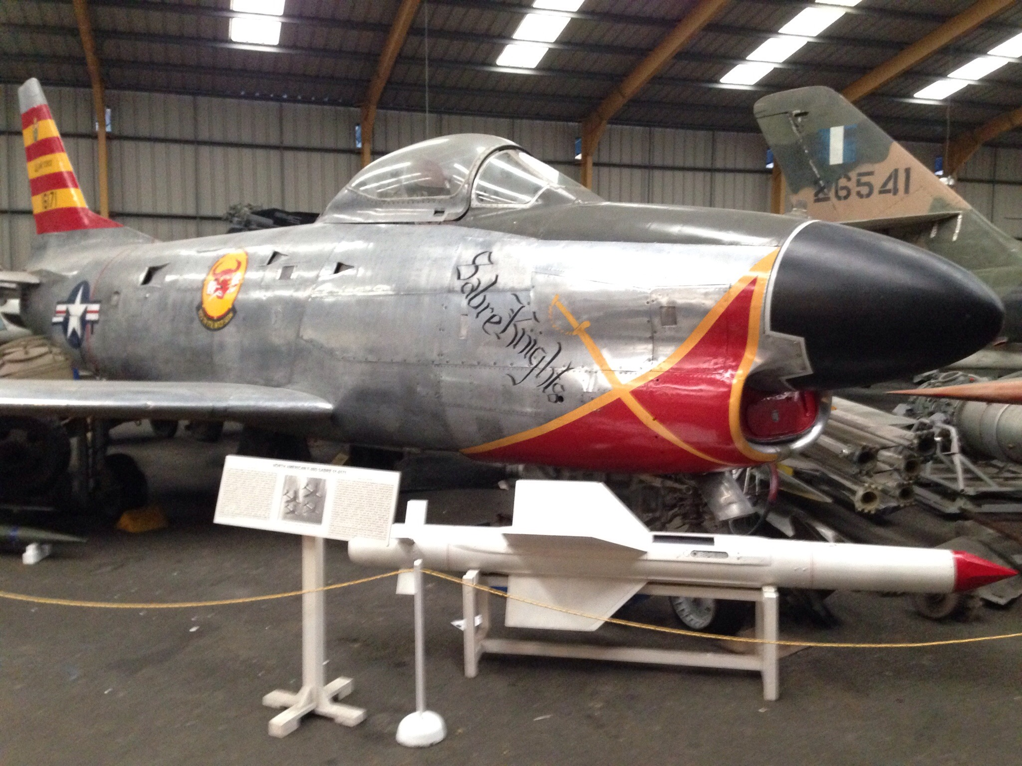 sabre knight  plane at sunderland air museum