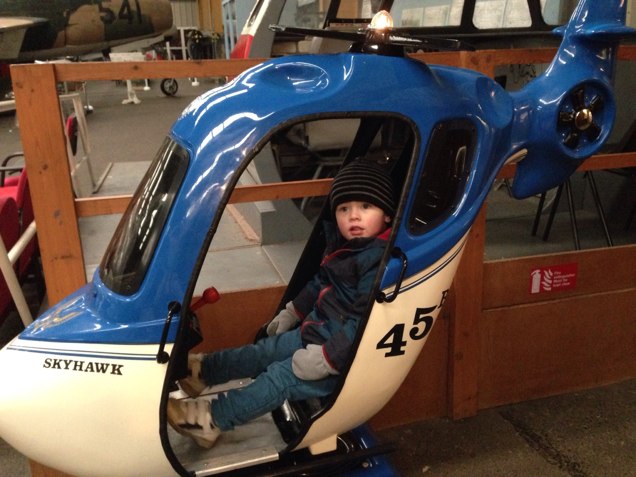 helicopter ride at sunderland air museum days out with a toddler north east england