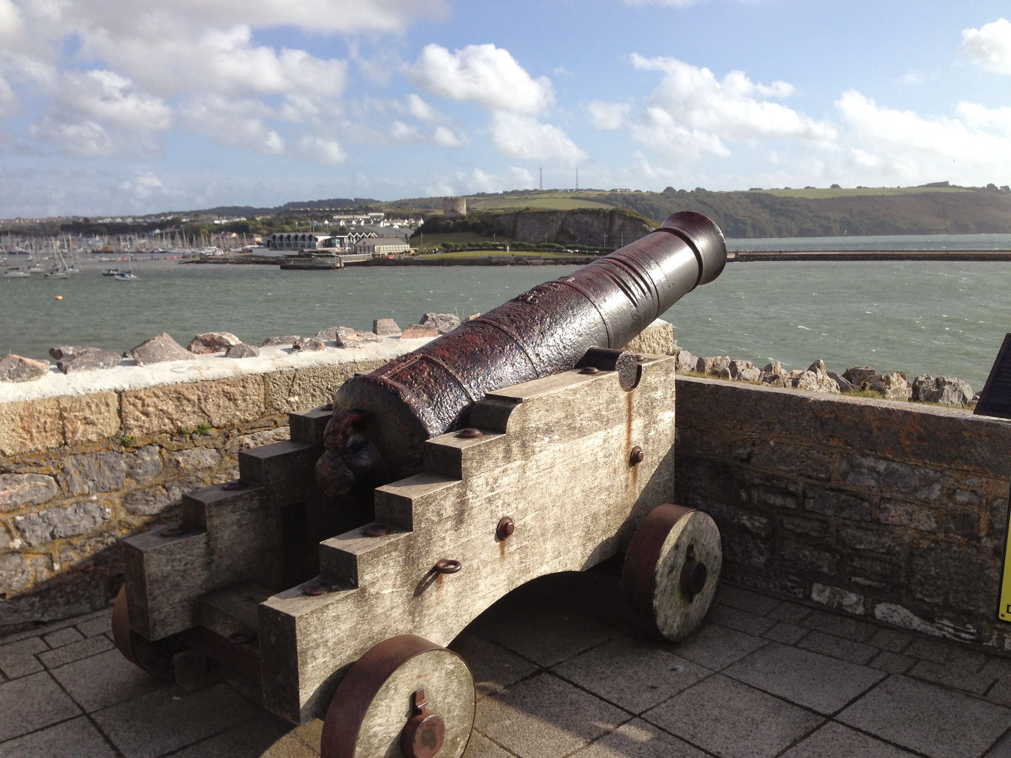 Canon overlooking Plymouth Ho