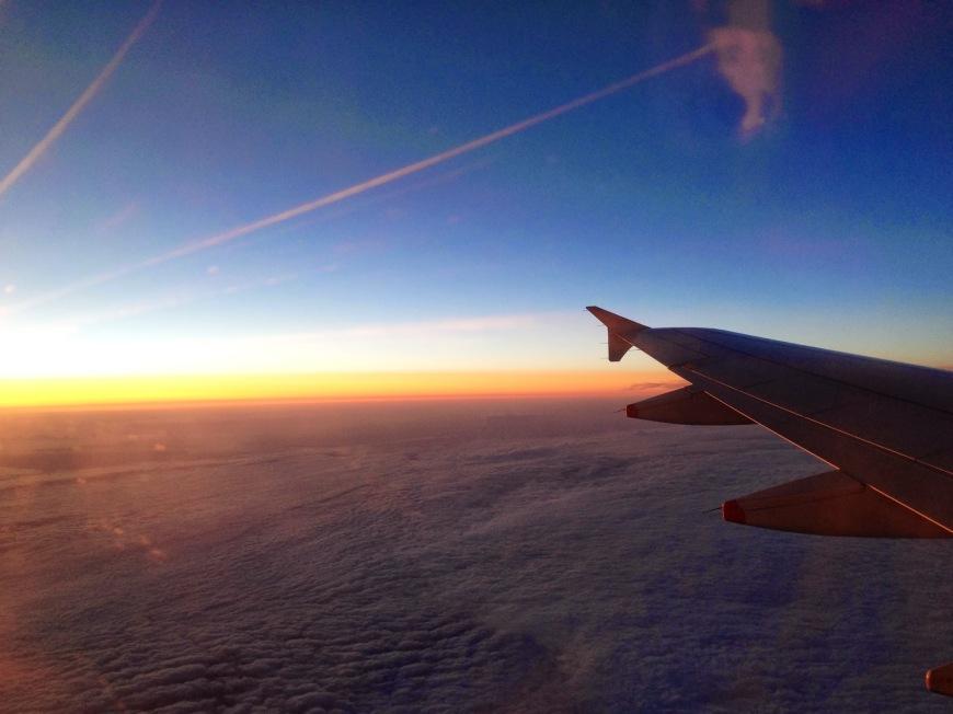 flying sky sun aeroplane wing