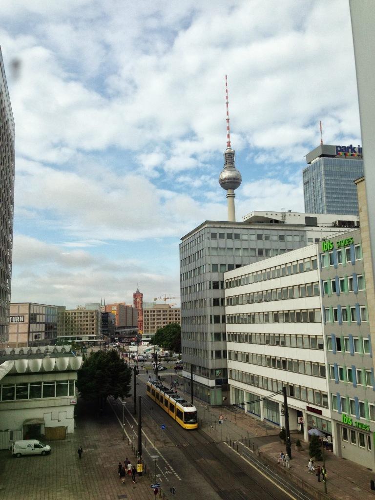 view from hotel indigo alexanderplatz berlin