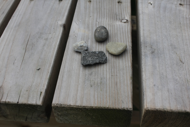 Stones on a table