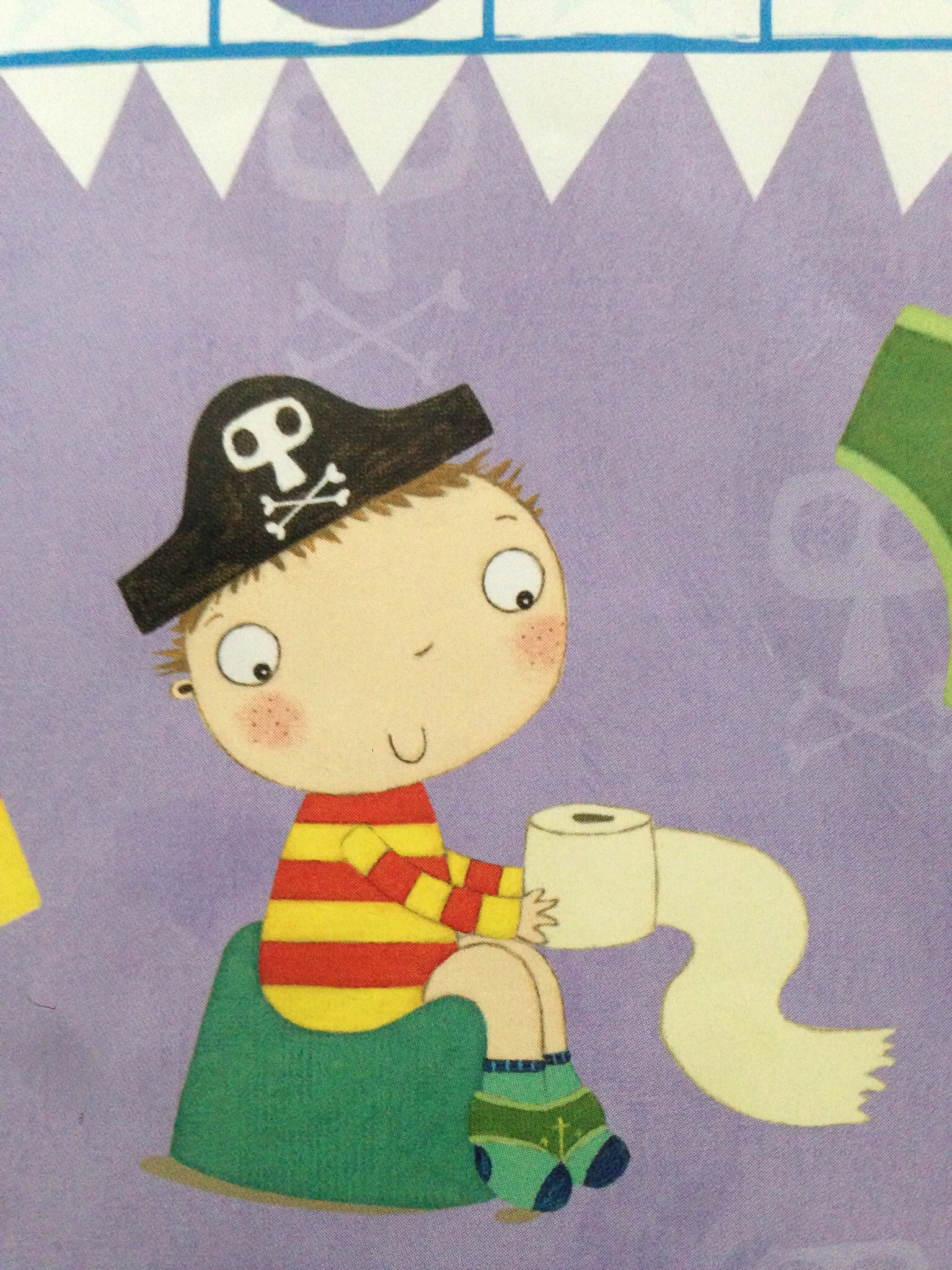 pirate pete on the potty