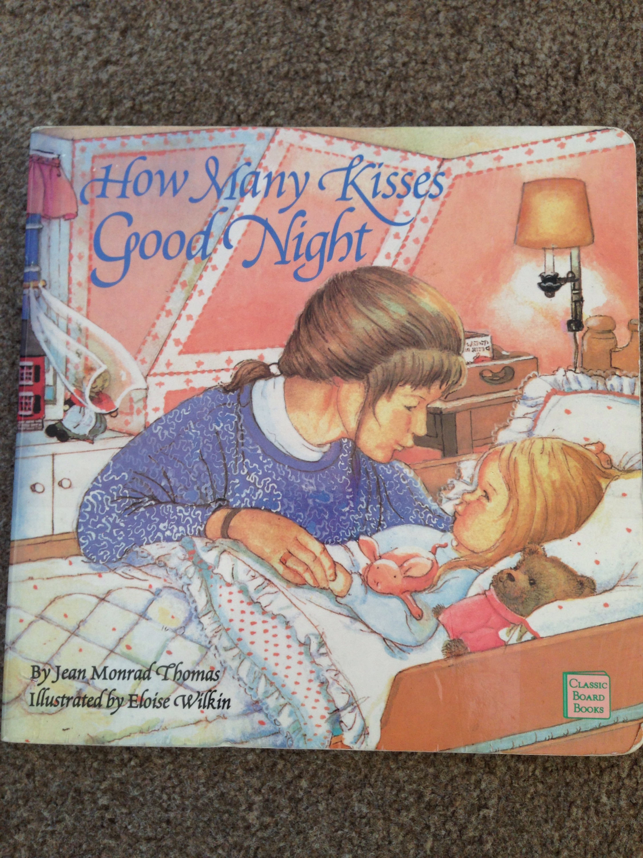how many kisses good night board book