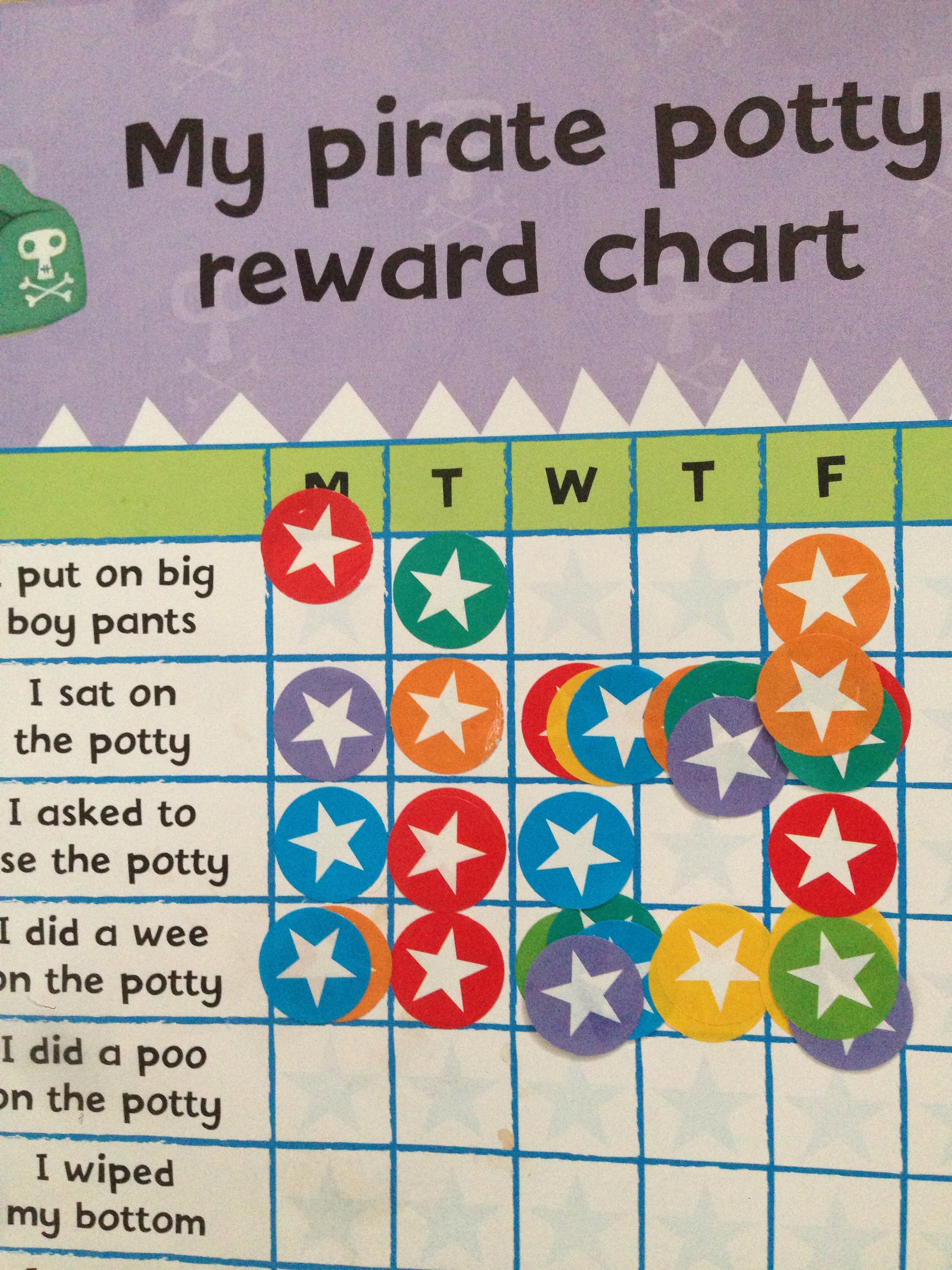 pirate pete sticker book star chart reward