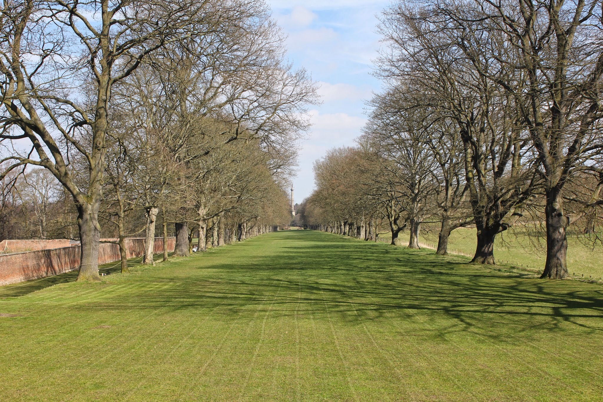 lawn at gibside, view from chapel