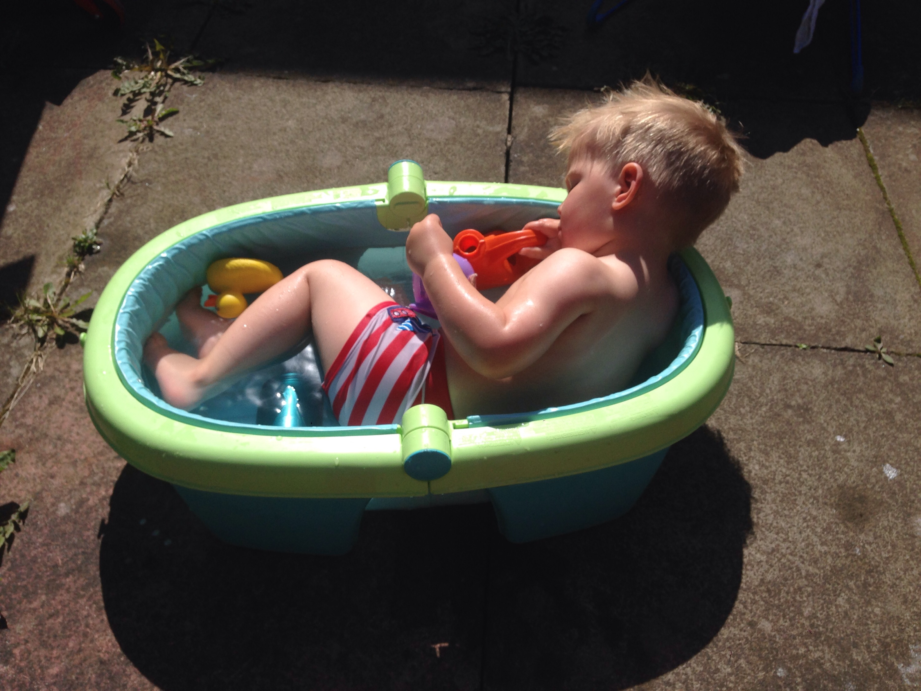 baby bath in the garden