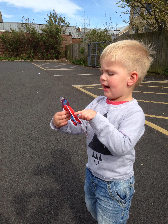 styrofoam aeroplane fun toddlers