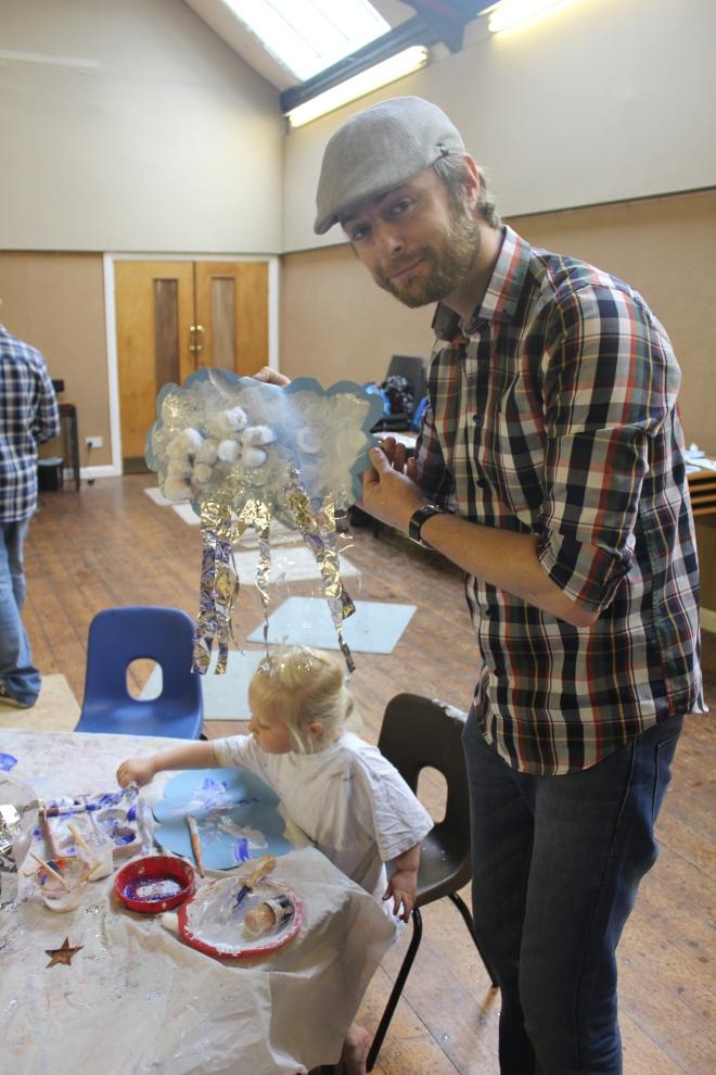 showing off weather art at artventurers Newcastle Gateshead petits filous