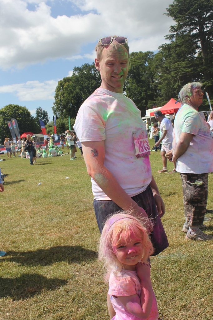 Dad daughter run or dye Babyfoote