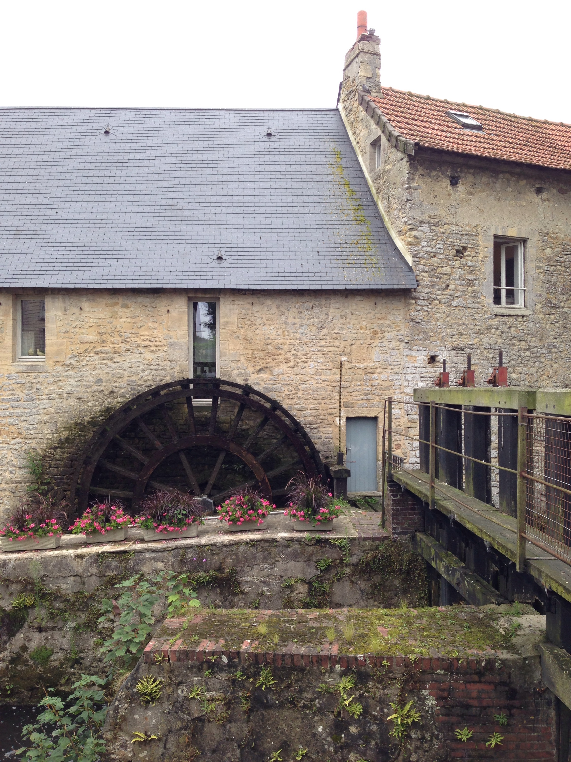 bayeux water wheel normandy france