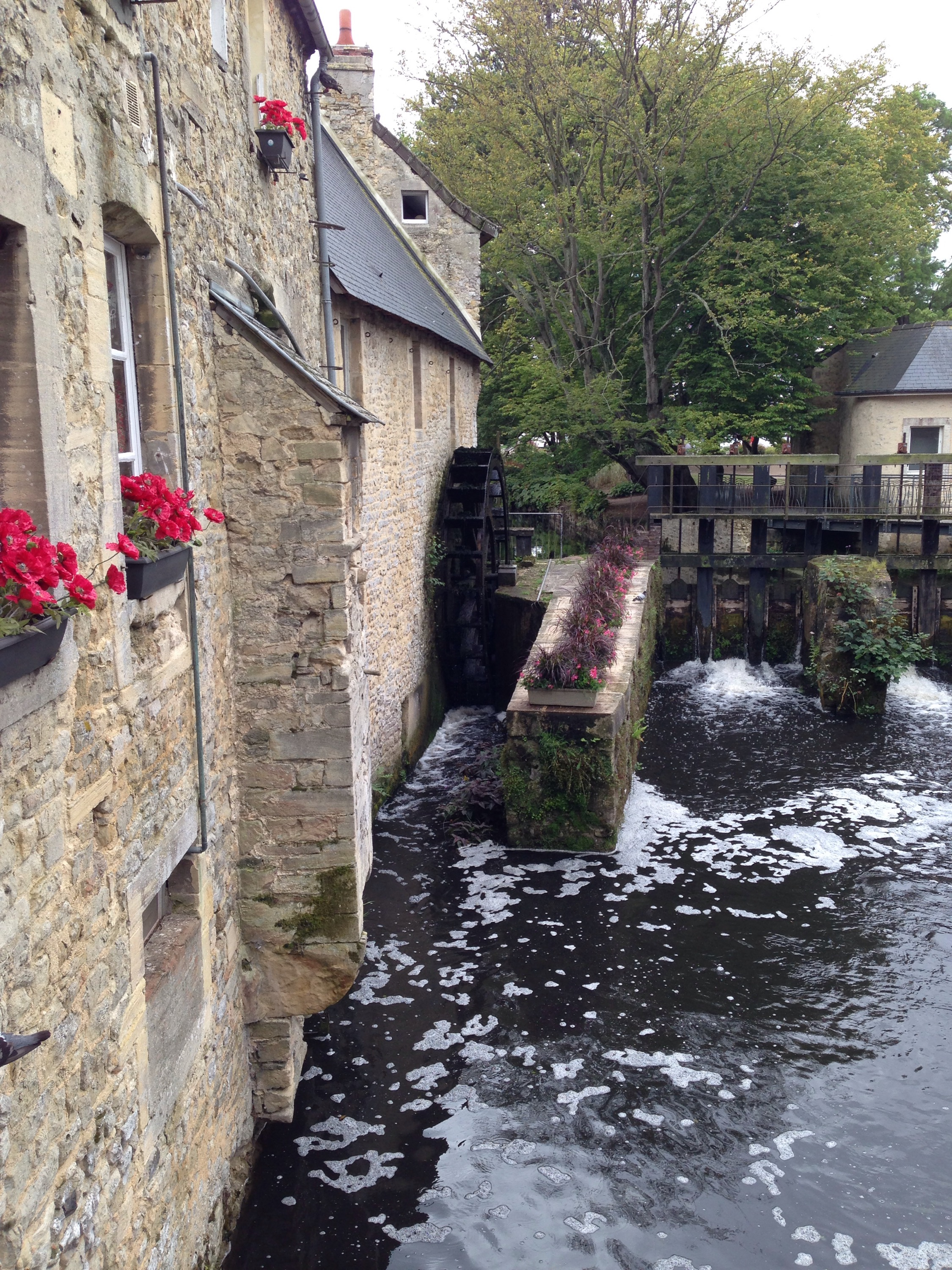 bayeux  water wheel lower normandy france days put with a toddler
