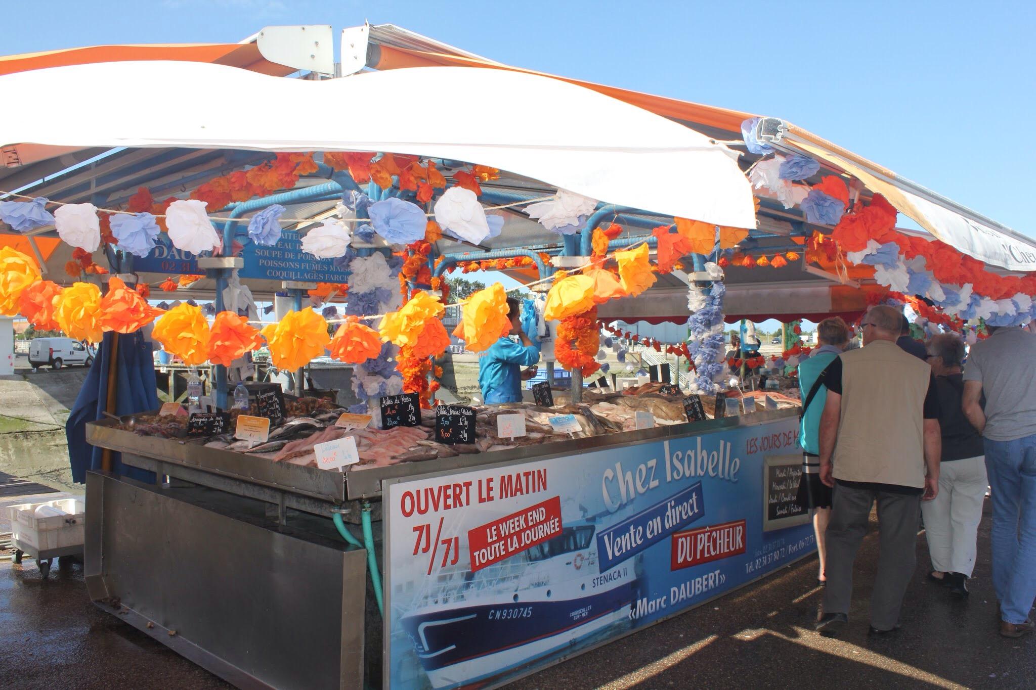 Fish market courseulles sur mer