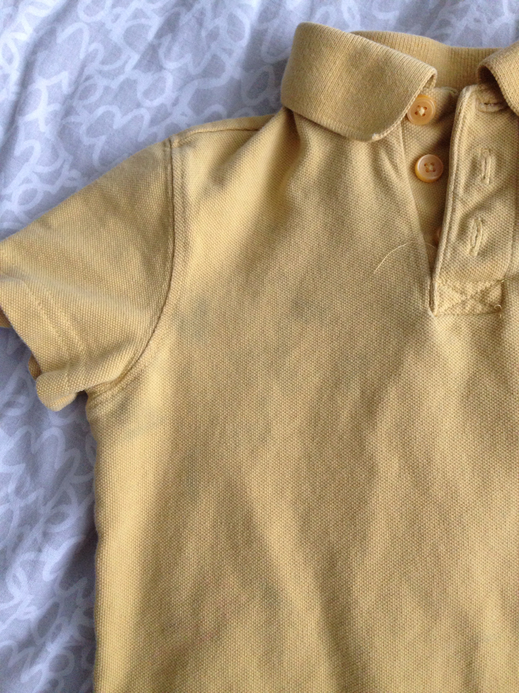 yellow polo shirt school