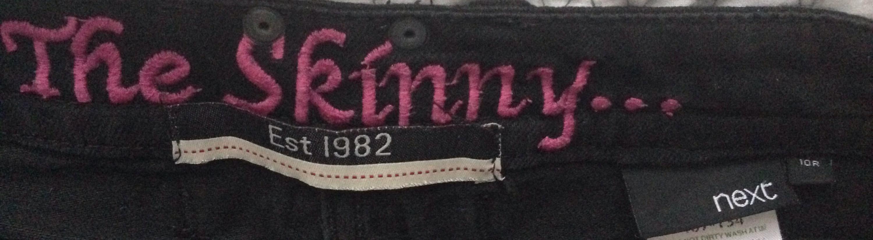 next skinny jeans size 10
