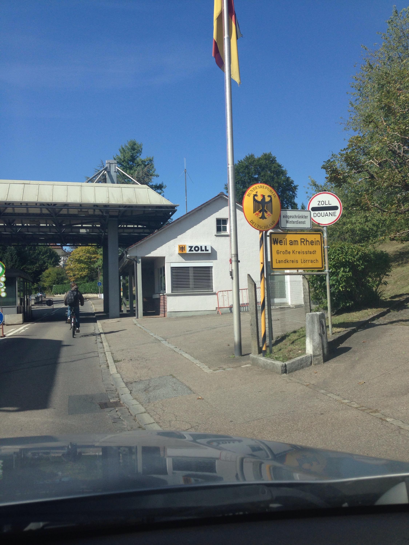swiss german border