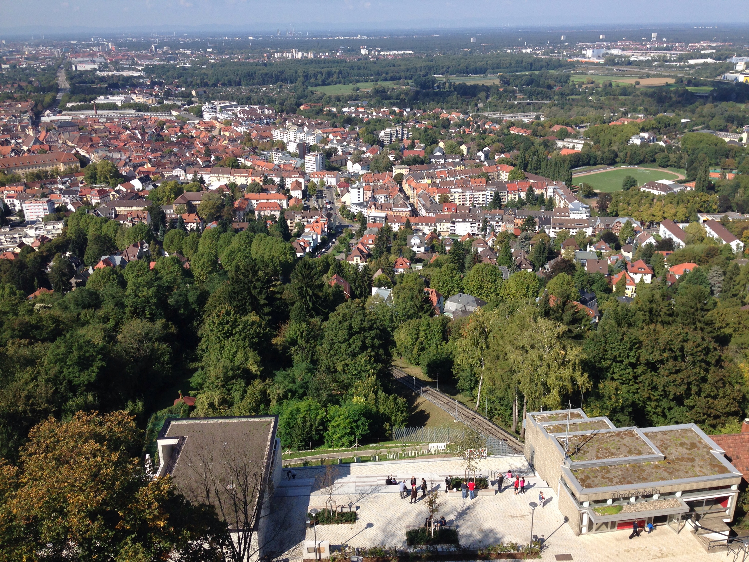 view from karlsruhe mountain castle top