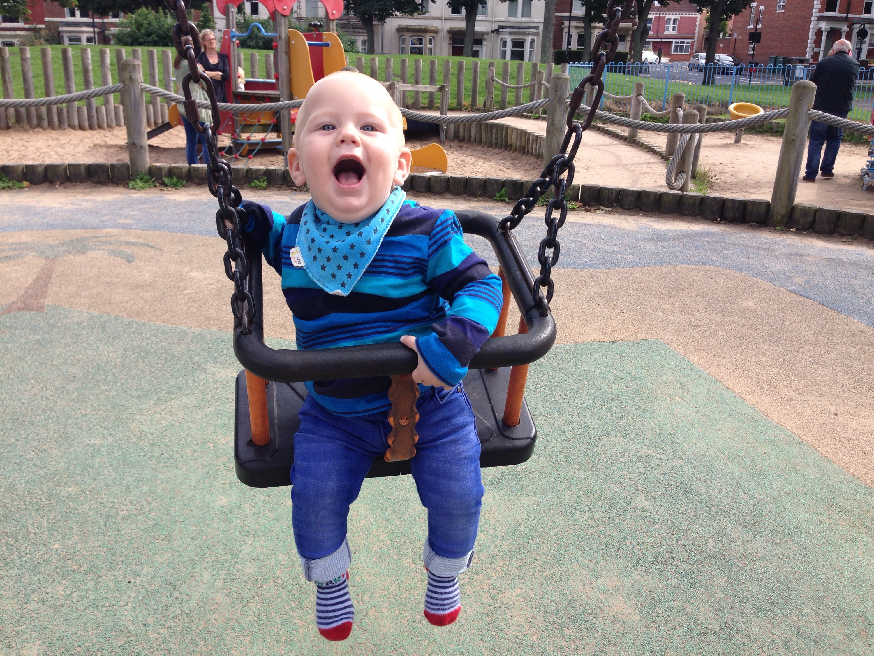 playground in whitley bay north tyneside swings