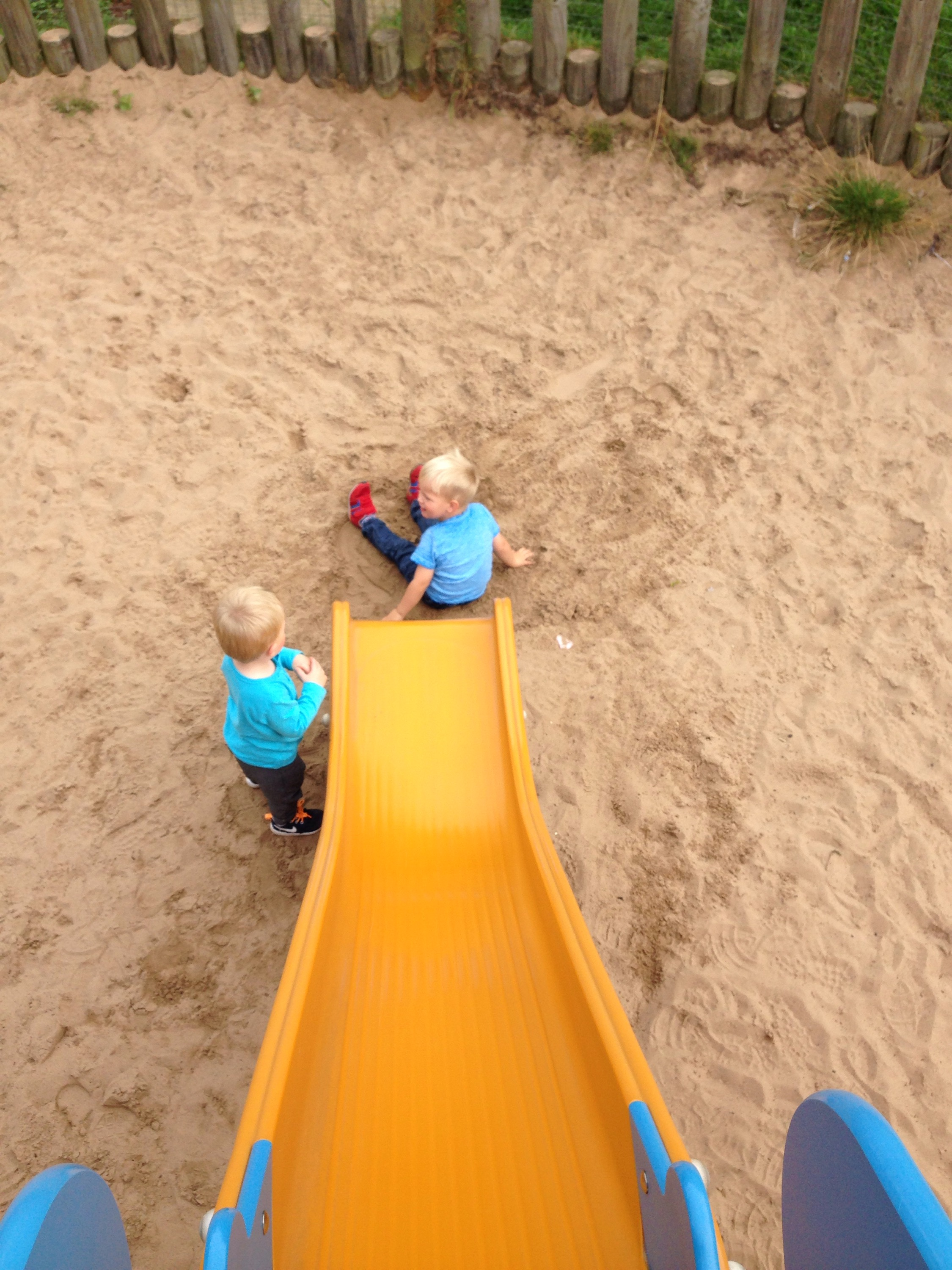 bottom of the slide whitley bay playground