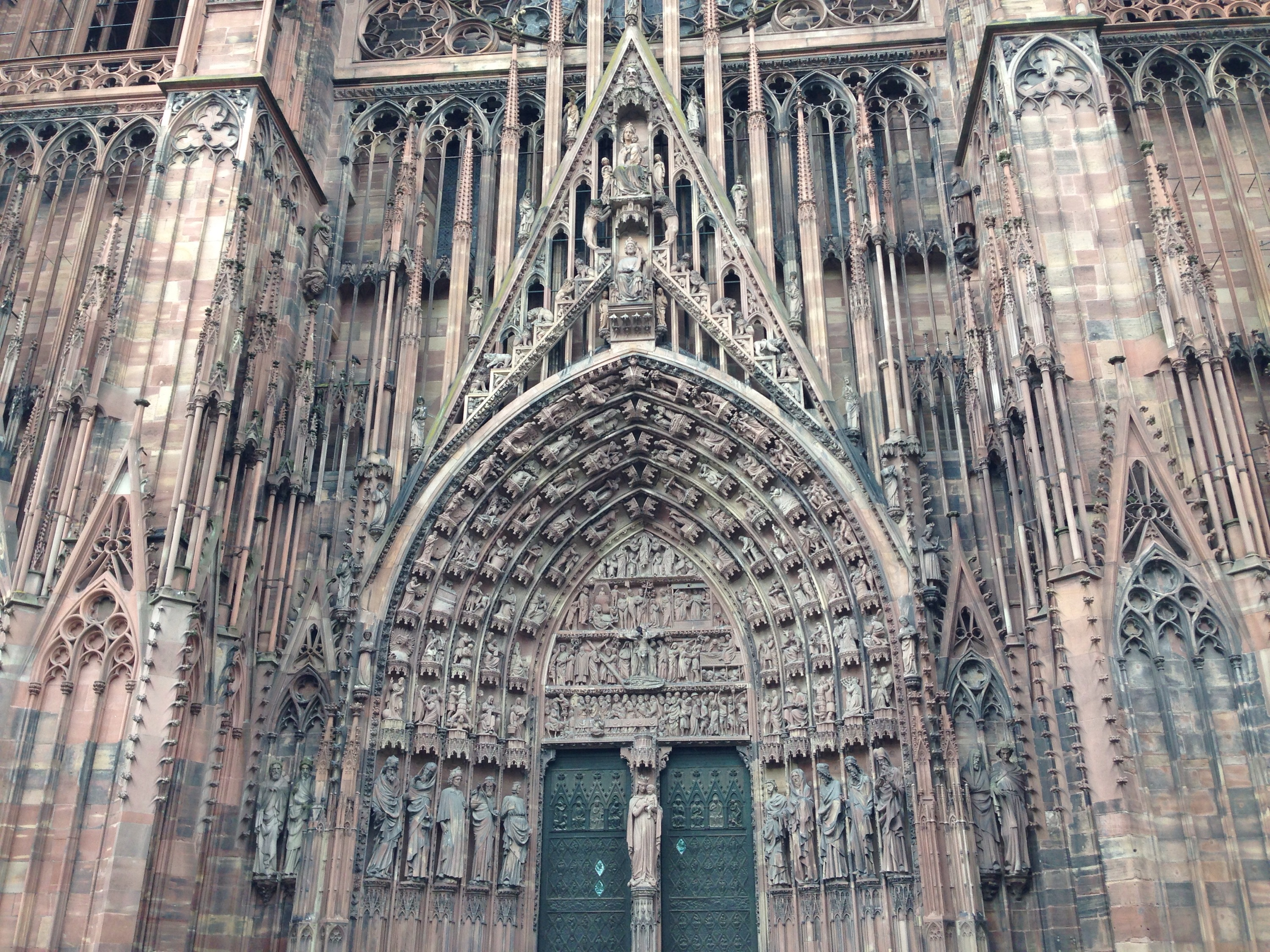 strasbourg cathedral entrance doorway