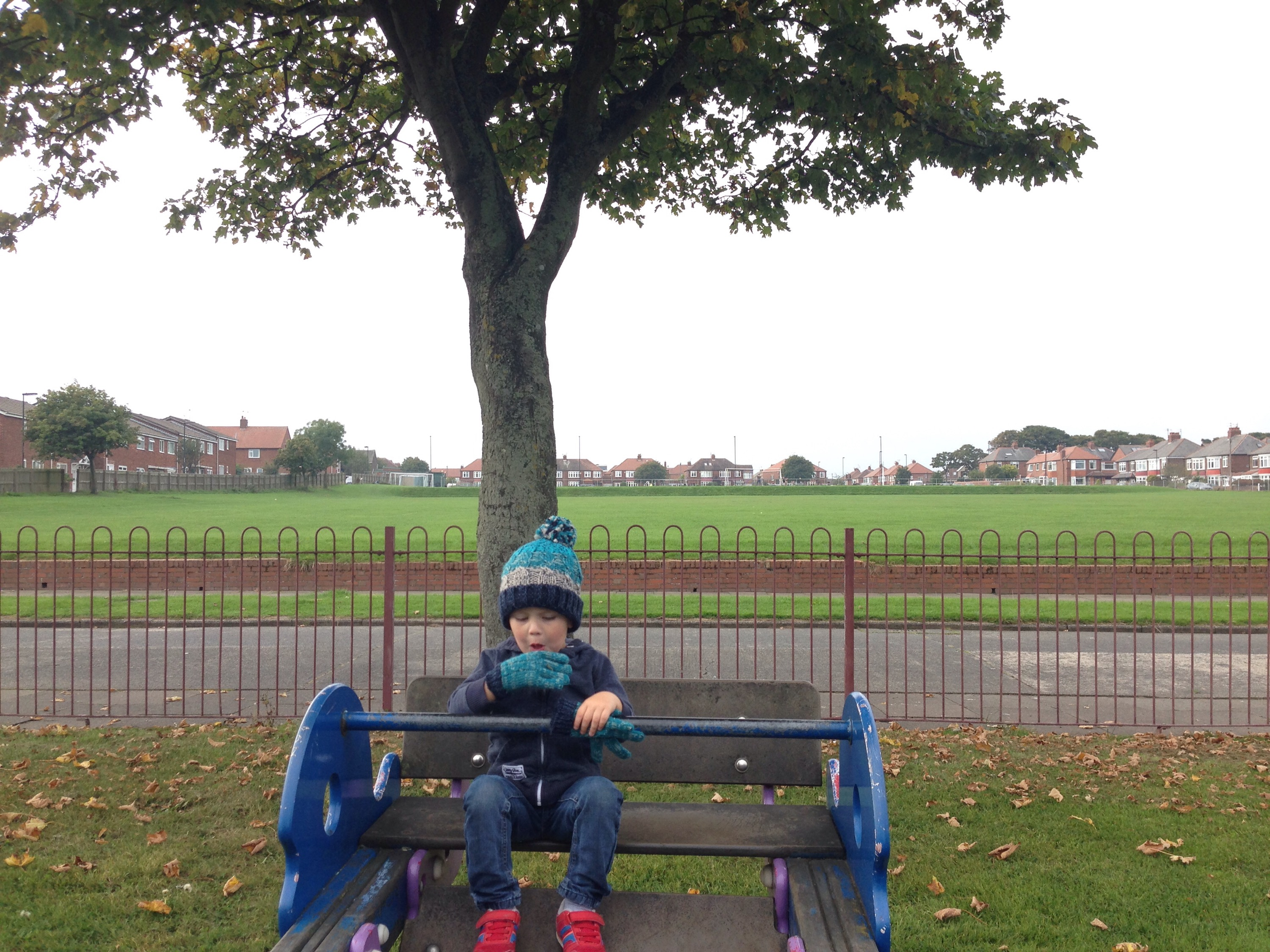north tyneside playground link road autumn seesaw
