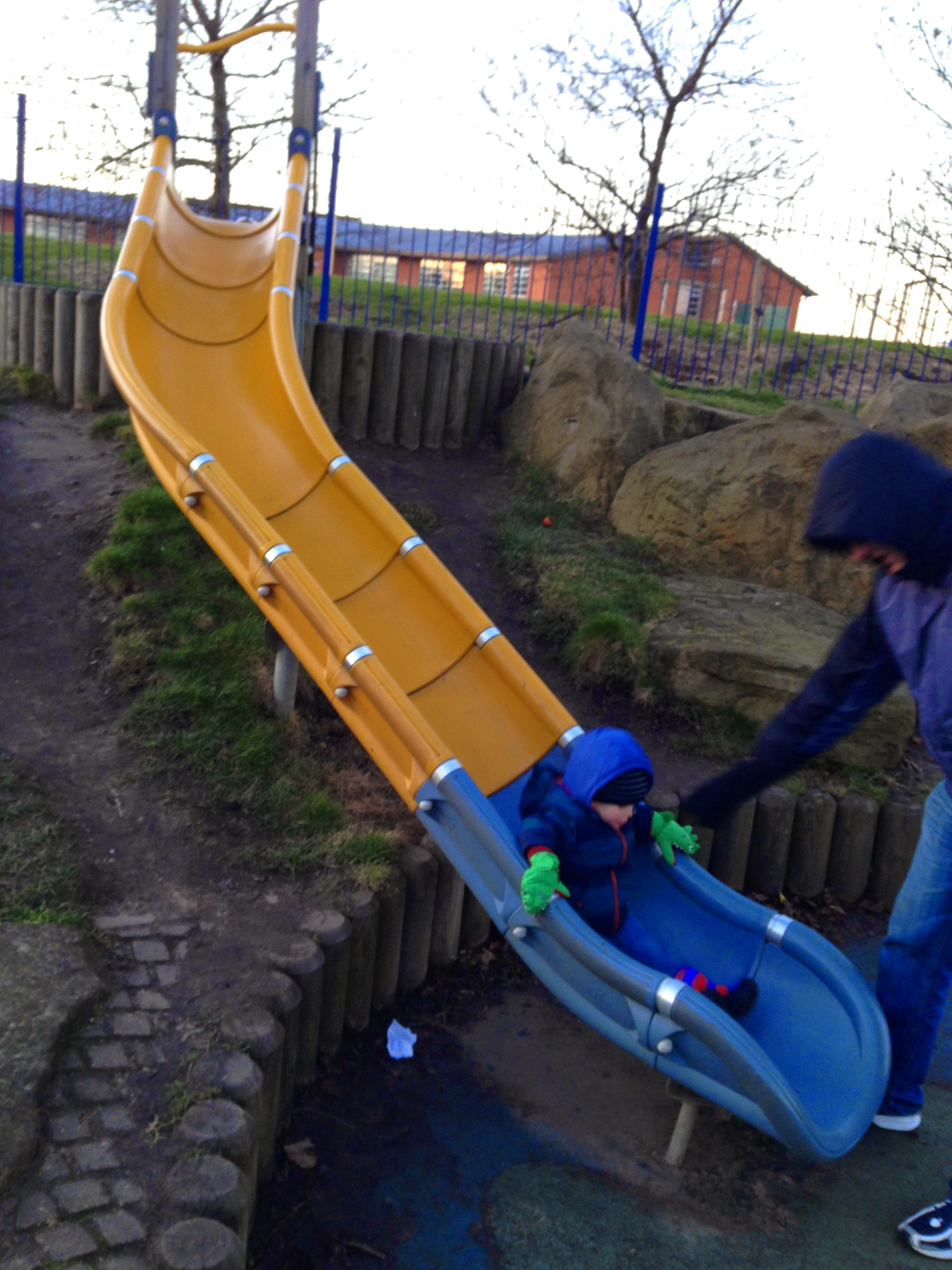 whitley bay park slide february