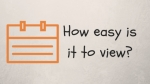 How easy is it to view