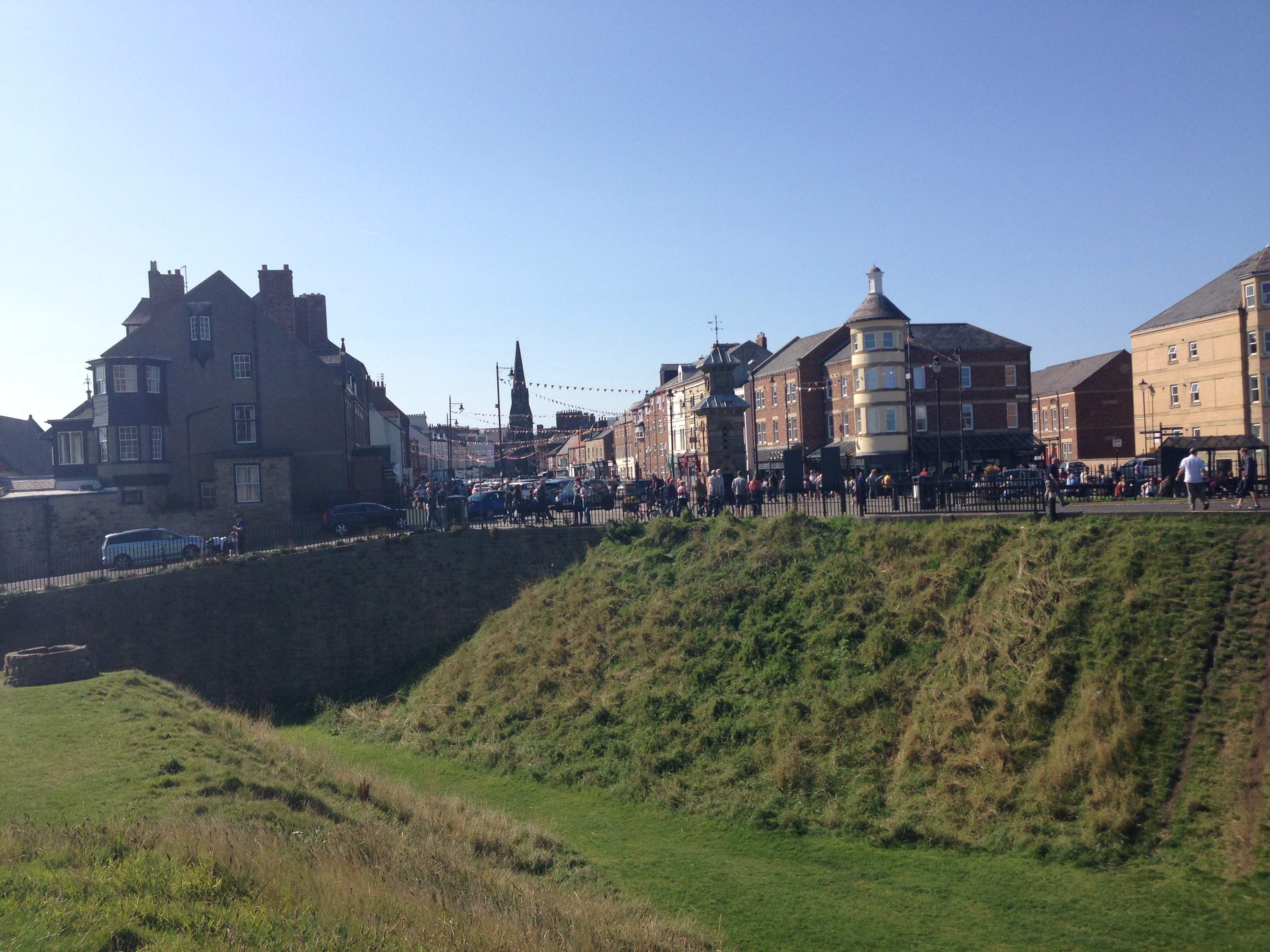 View of Tynemouth high street from the Priory