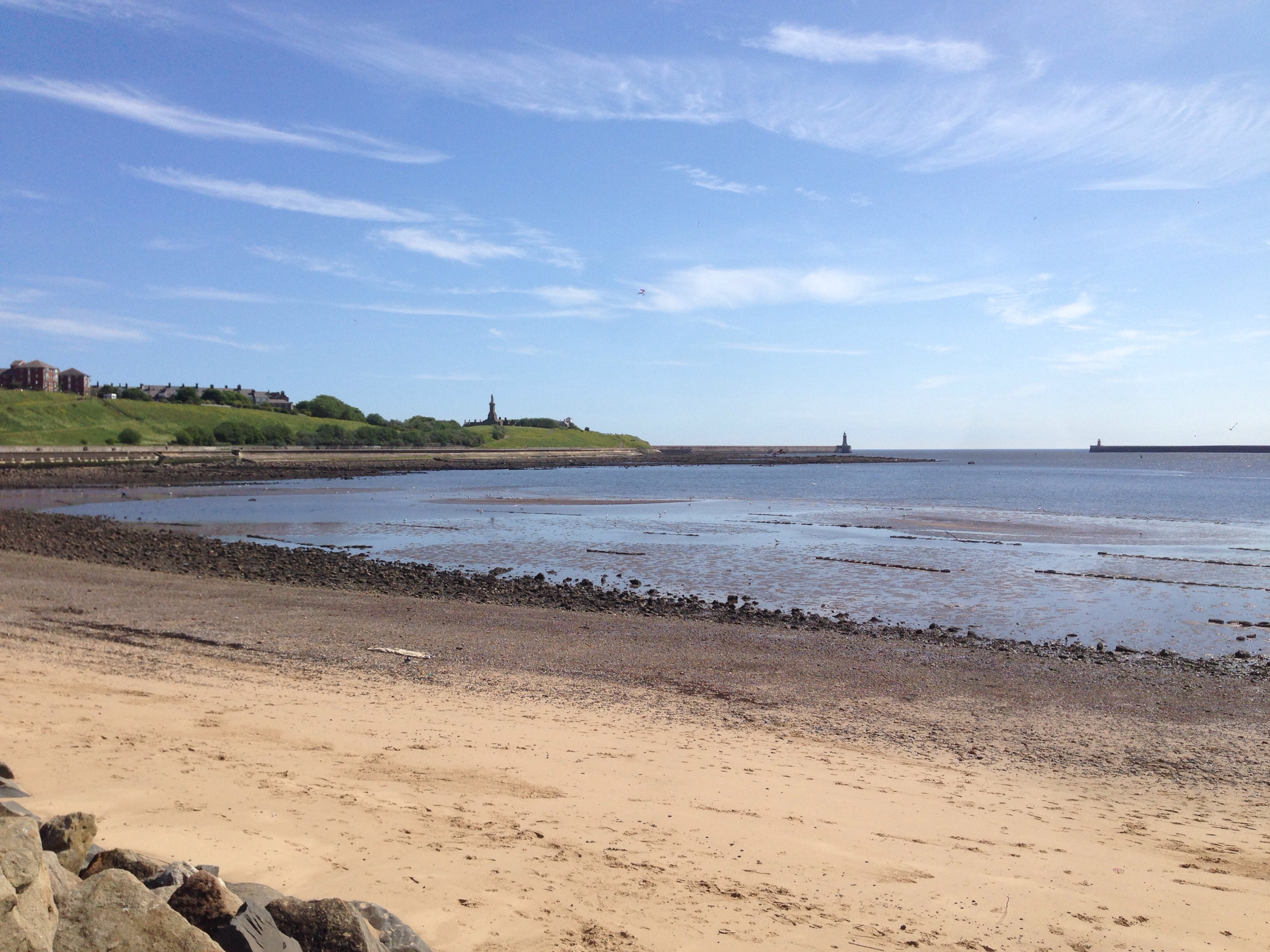 mouth of the tyne from north shields near to the fish quay