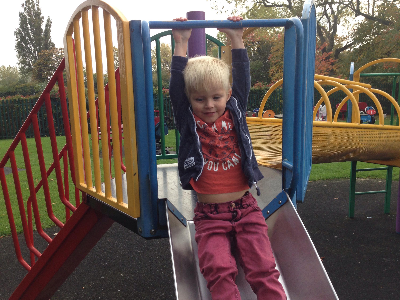 slide at howdon playground north tyneside
