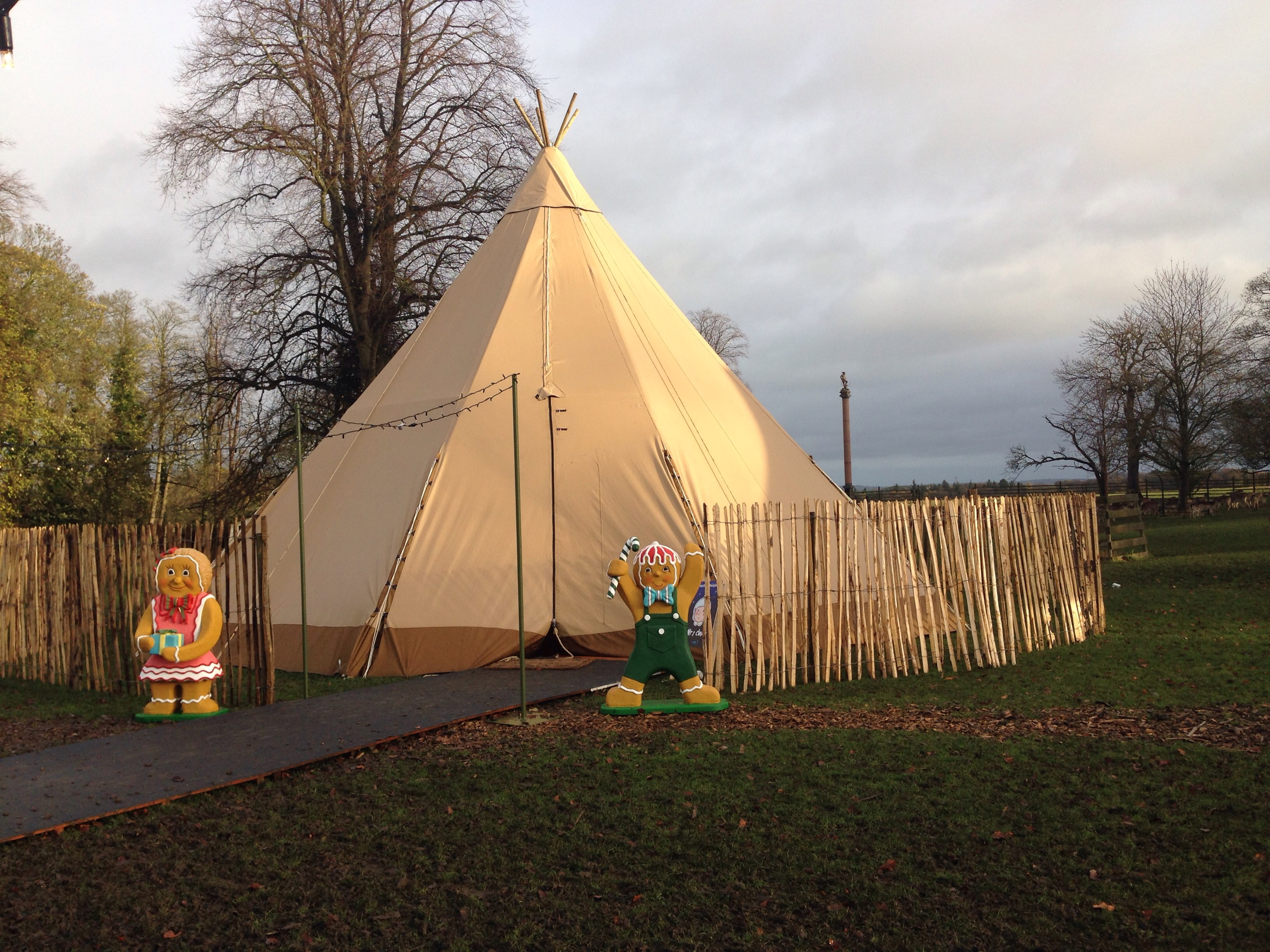 tipi tent at enchanted christmas event in whitworth hall