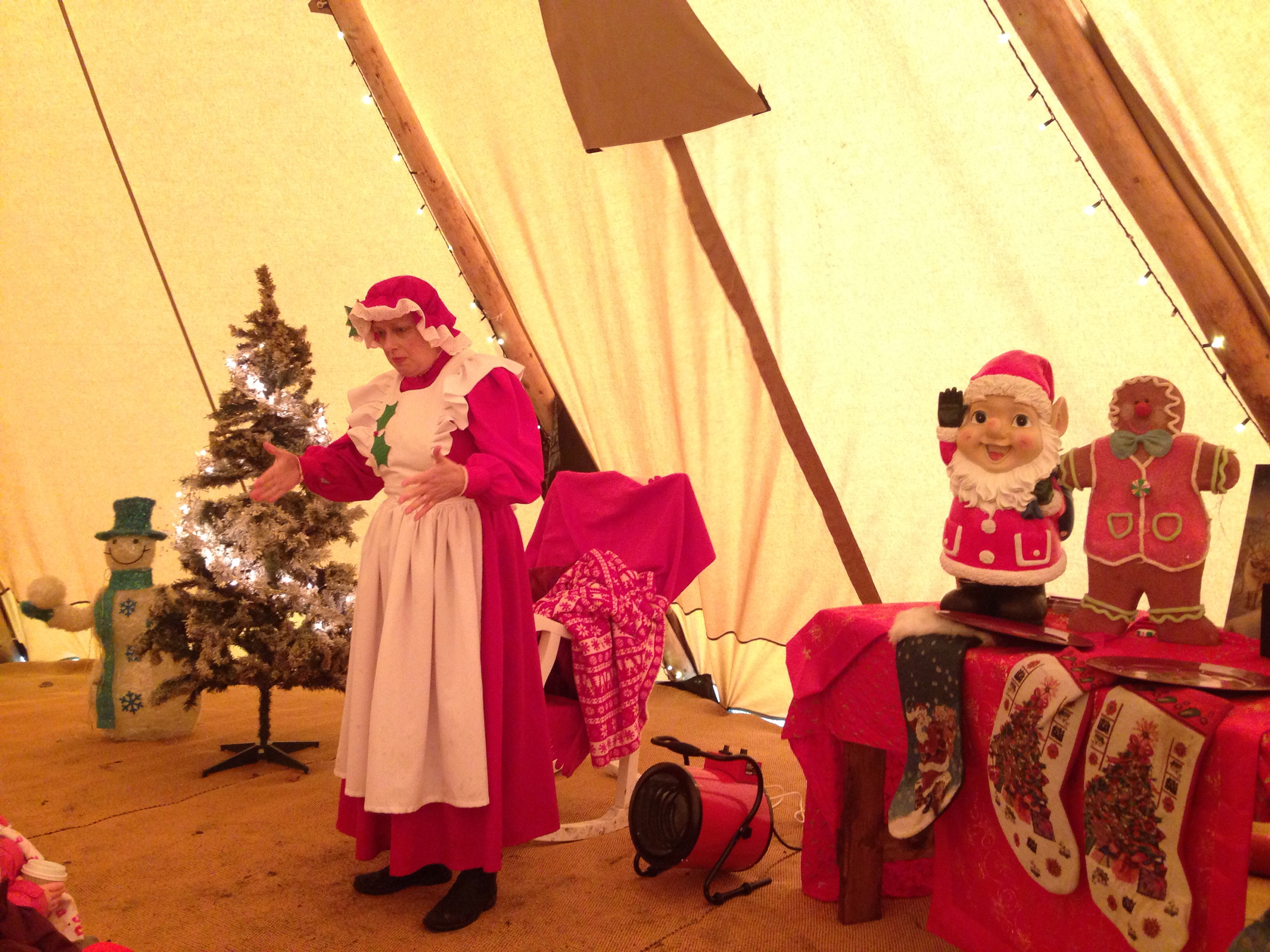 mrs claus at enchanted christmas
