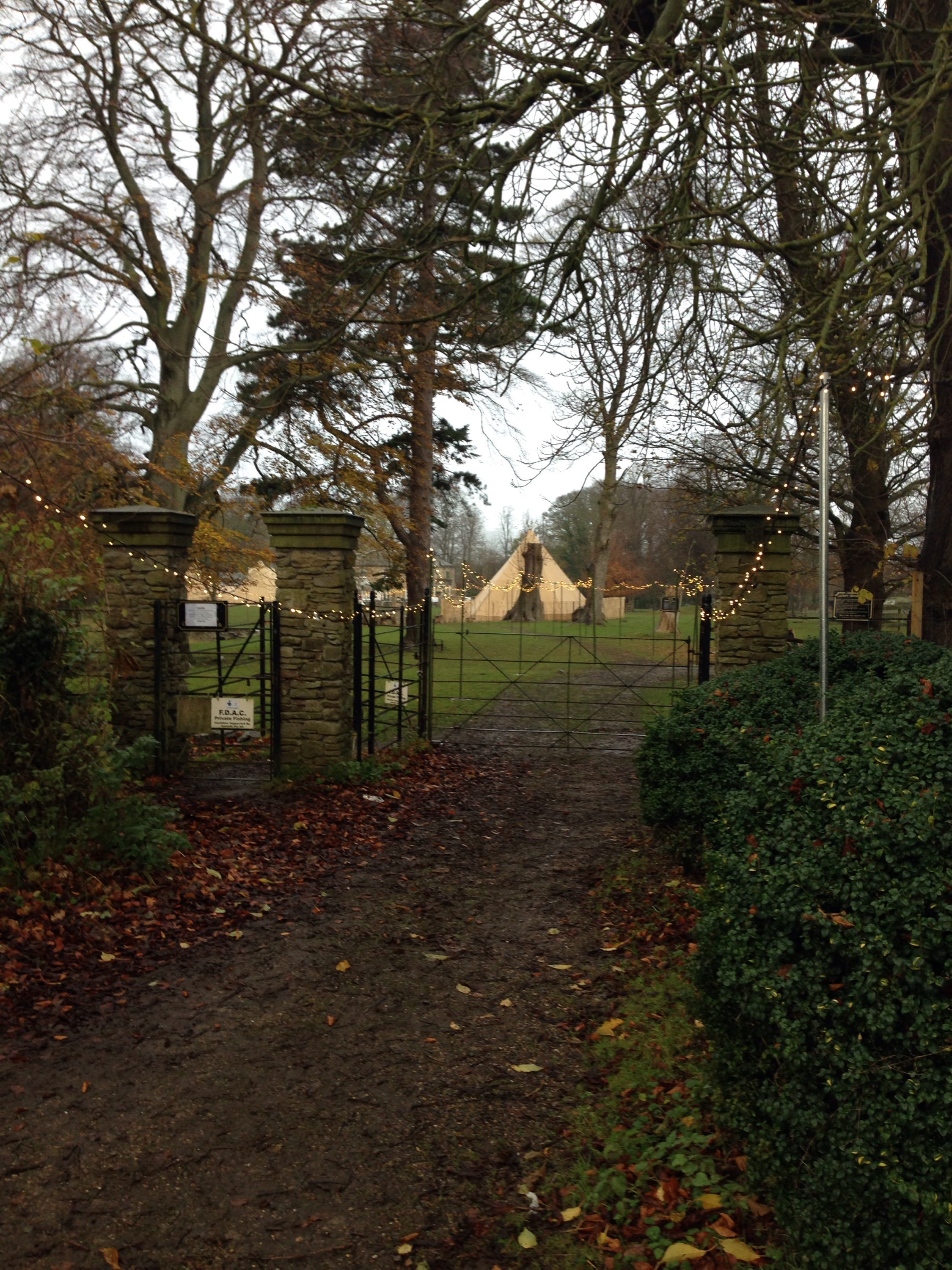magical tipis at enchanted christmas event 2015 in whitworth hall County Durham