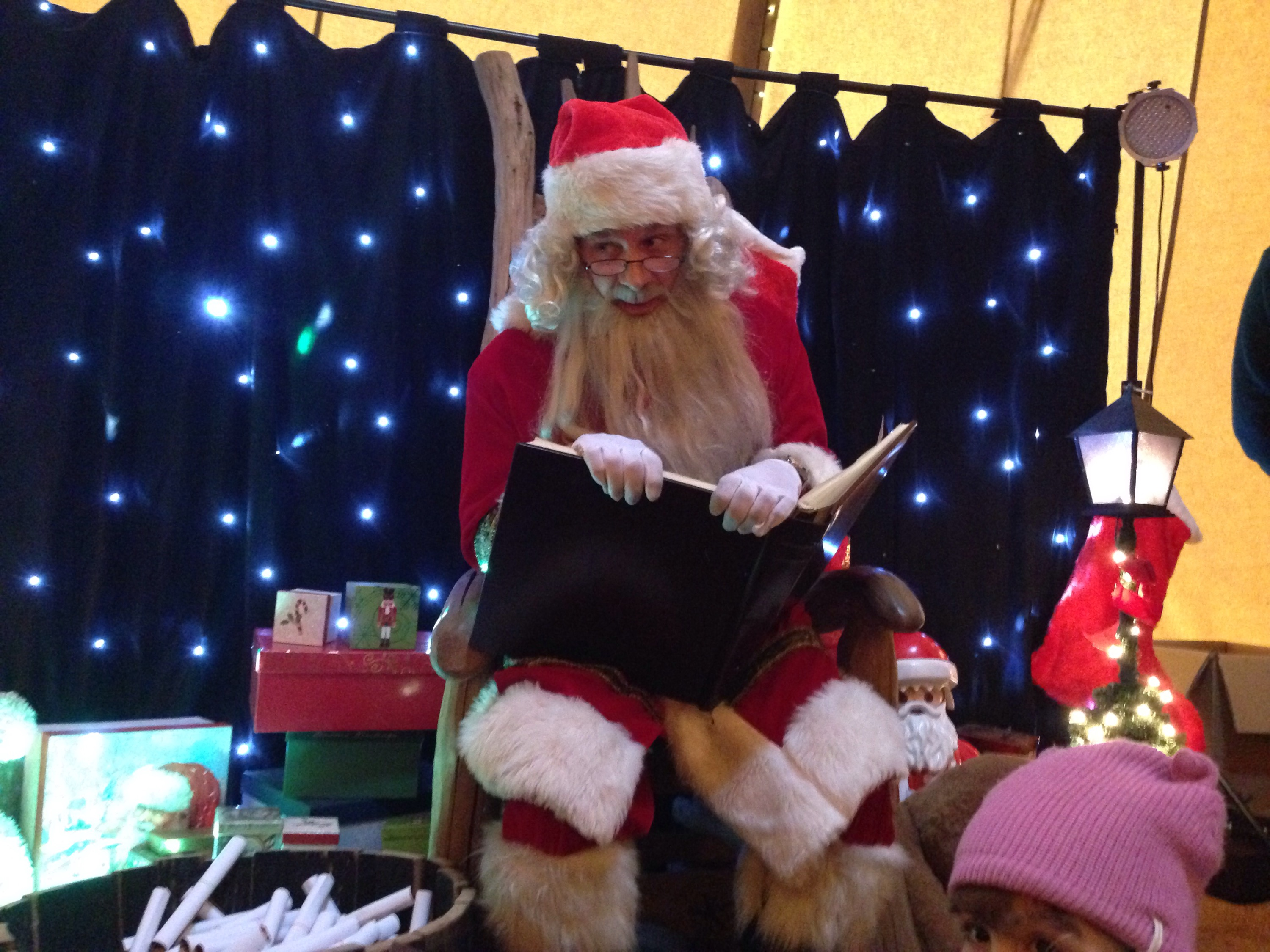 santa reading from the list