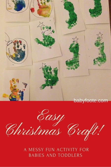 easy christmas craft for fun with babies and toddlers