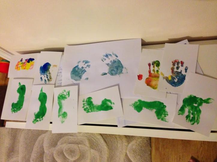 hand print foot print christmas craft