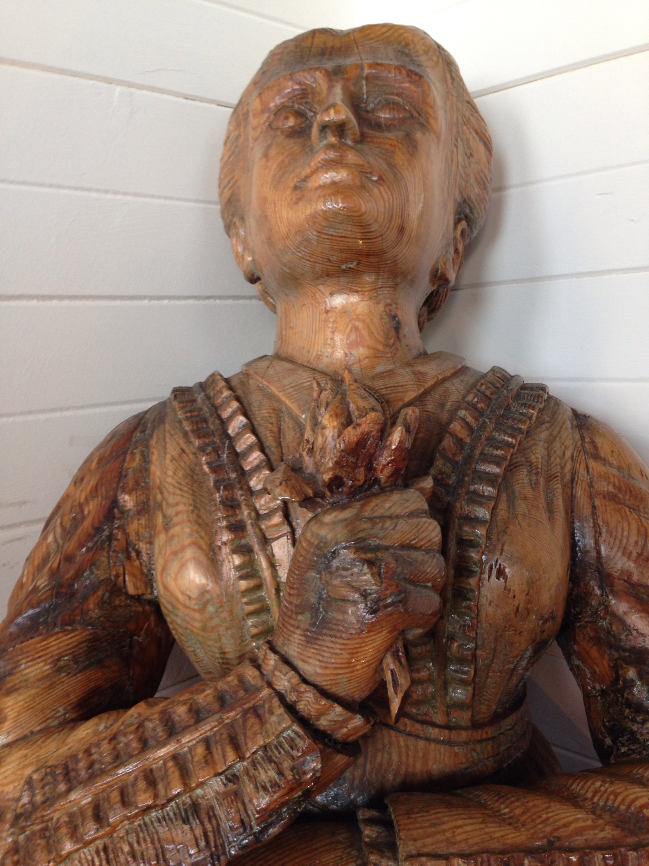 figurehead from the wreck of Rupert on display in the watch house tvlb museum