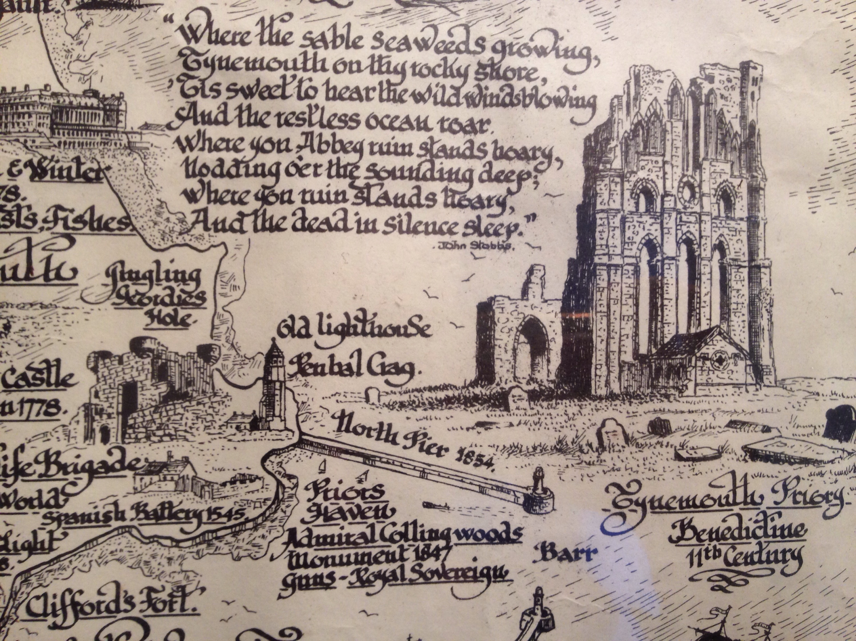 Tynemouth priory drawing