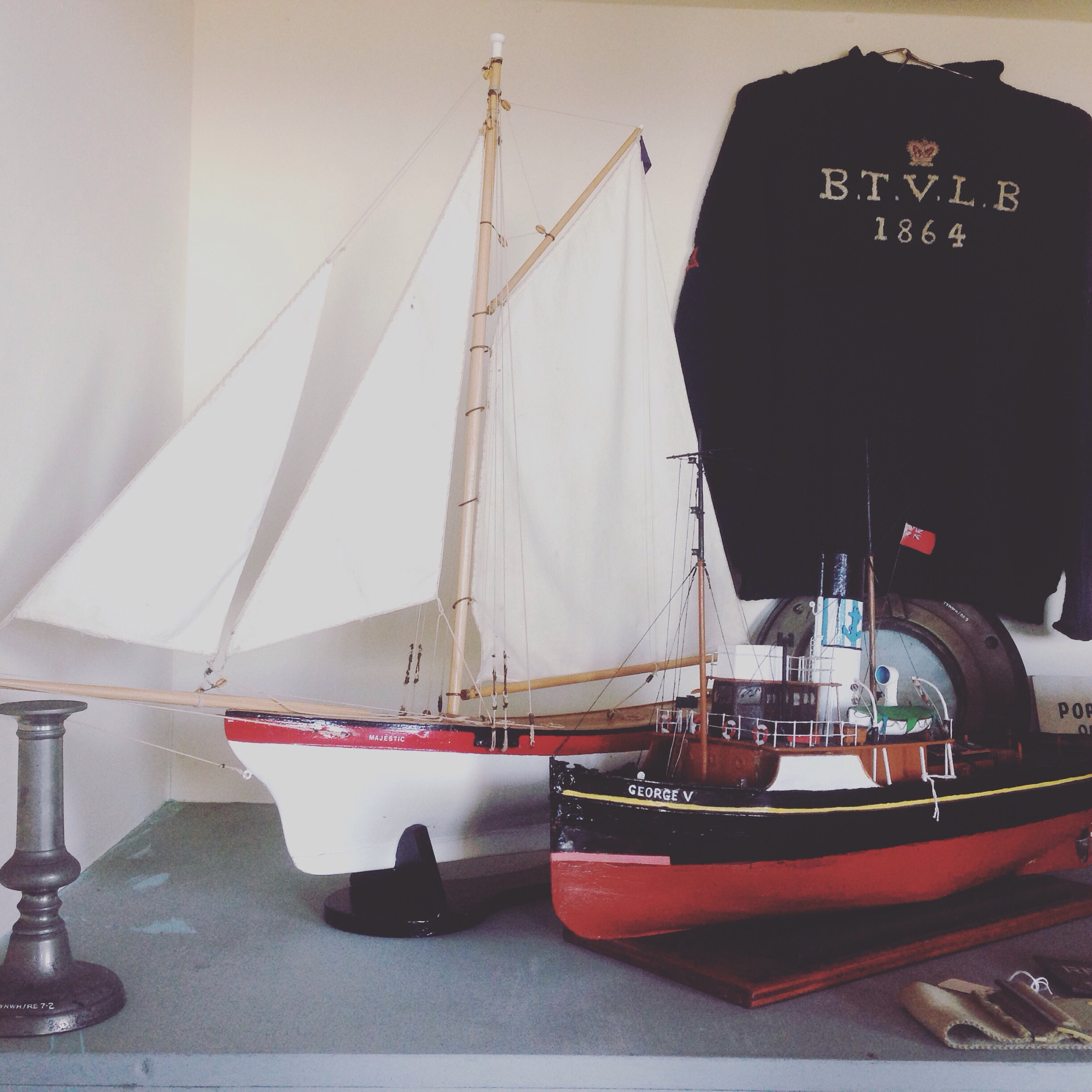 boats and jumper in the TVLB museum, Tynemouth