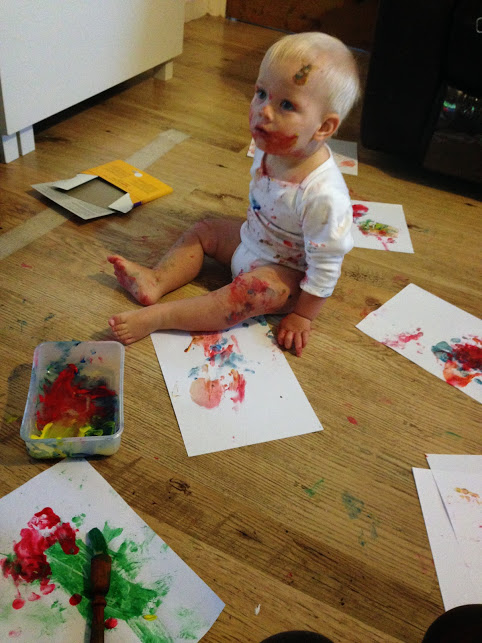 painty baby christmas activity