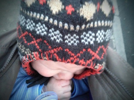 hat with ear flaps for keeping baby and toddler warm in winter